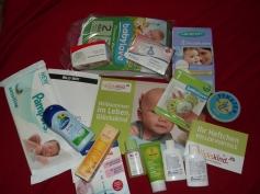 Pflegeprodukte im Willkommenskoffer